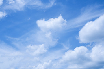 Blue sky and cloud nature background