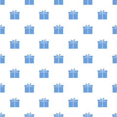 Seamless pattern with gifts boxes.