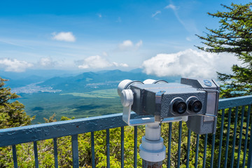 Binoculars for view point at Mt. Fuji Mountain 5th floor
