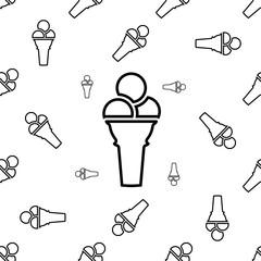 Ice Cream Cone Icon Seamless Pattern