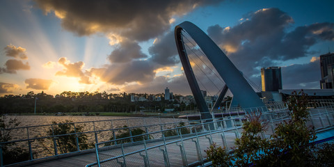 Wall Mural - Perth Australia sunset city Elizabeth quay