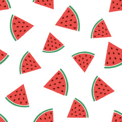 abstract pattern with watermelons