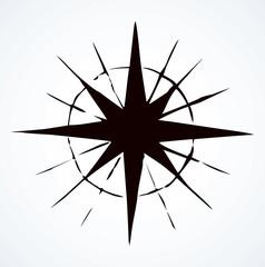 Compass Icon. Vector sketch
