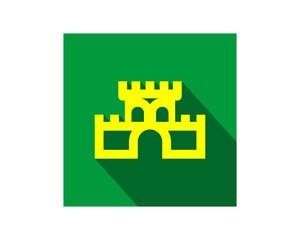 yellow castle image vector icon logo symbol