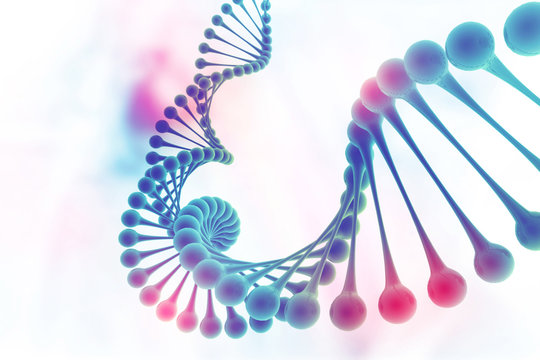 DNA structure on science background