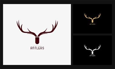 abstract deer antlers logo