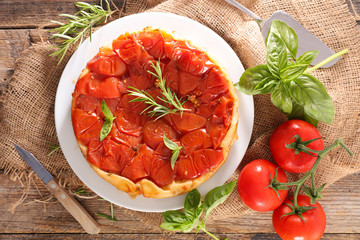 tomato quiche and rosemary