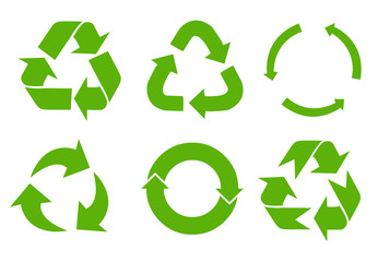 Vector recycle signs Wall mural