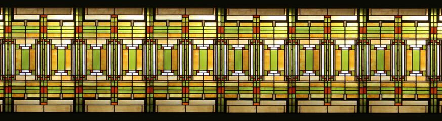 Prairie style stained glass / Vitrail style prairie