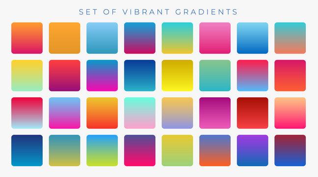 bright vibrant set of gradients background
