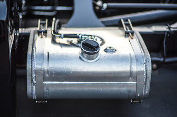 Car Gas Tank - Fueling Theme. Closeup. Transportation Photo Collection.