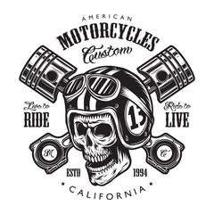 Vintage motorcycle logo template