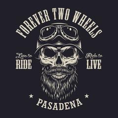 Vintage motorcycle club logo