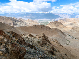 Landscape of the way from Leh to Pangong Lake, Ladakh, India.