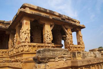 Entrance porch of Durga temple, Aihole, Bagalkot, Karnataka