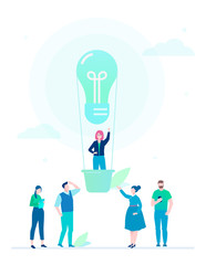 Business idea - flat design style colorful illustration