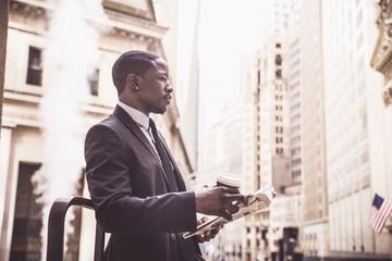 Businessman in Wall Street
