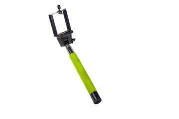 Monopod for selfie for smart phone isolated on white background