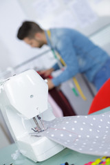 focus on sewing-machine