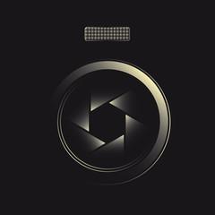 Lens symbol for photographer