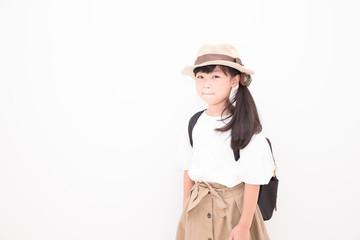 お洒落な小学生の女の子