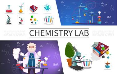 Flat Laboratory Research Elements Set
