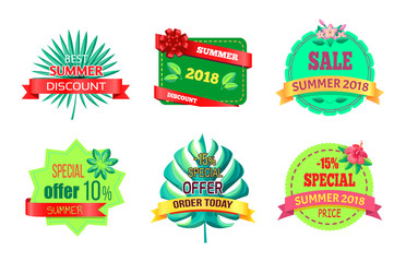 Best Summer Discount Logos with Tropical Plants