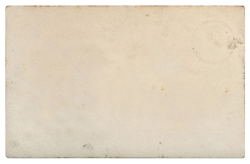 Used paper sheet Old cardboard stains isolated