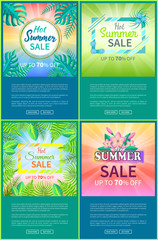 Hot Summer Sale Web Posters Set Up 70 Off Banner