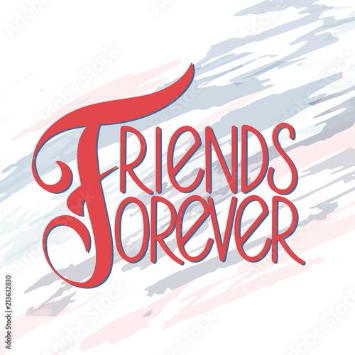 Friendship day hand drawn lettering friends forever vector friendship day hand drawn lettering friends forever vector elements for invitations posters m4hsunfo