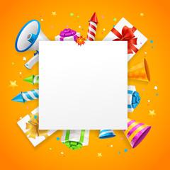 Birthday or Anniversary Celebration Banner Card Background. Vector