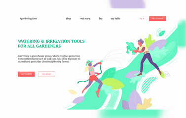 Watering irrigation tools banner