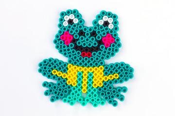 Frog perler beads.