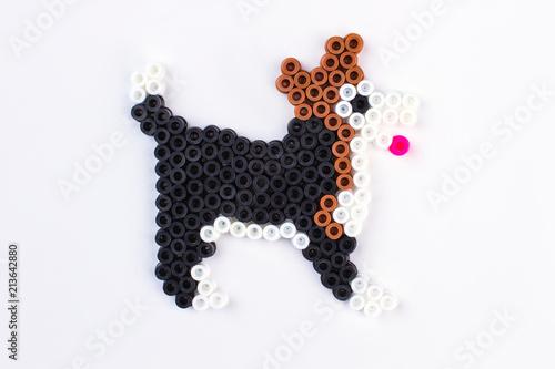 Perler bead dog