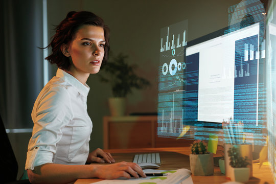Innovation Technology. Programmer Creating Website