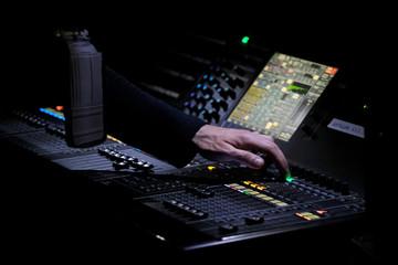 console son main ingé musique concert