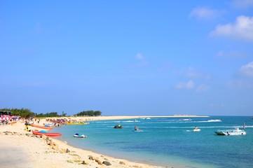 Beautiful beach and coast on a sunny day in Penghu, Taiwan