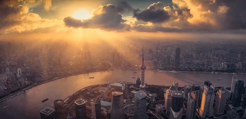 Aluminium Prints Shanghai Shanghai city skyline