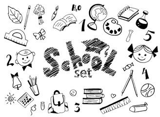 school items set
