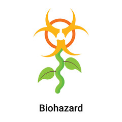 Biohazard icon vector sign and symbol isolated on white background, Biohazard logo concept