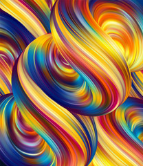 Vector illustration: 3d Abstract liquid background with colorful fluids.