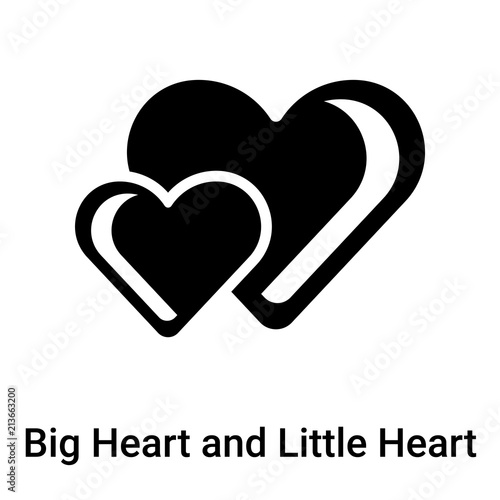 Big Heart And Little Heart Icon Vector Sign And Symbol Isolated On