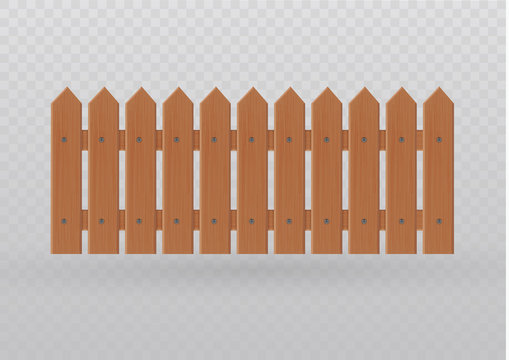 Wooden fence illustration isolated on white background.set icons fence made from vector illustration