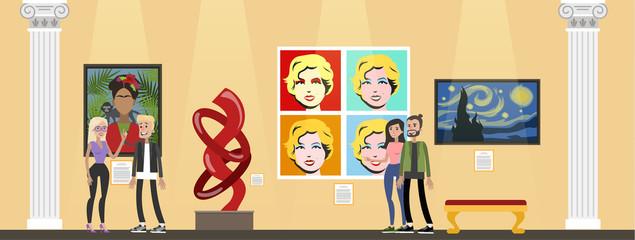 Museum interior illustration
