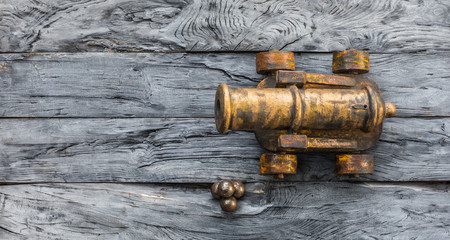 ancient medieval bronze cannon
