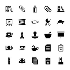 Collection of 25 clip filled icons