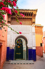 Beautiful traditional doods in Marrakech, Morocco