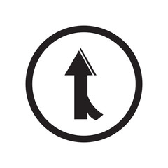 Road joining icon vector sign and symbol isolated on white background, Road joining logo concept