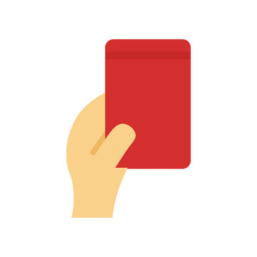 Red card icon vector sign and symbol isolated on white background, Red card logo concept