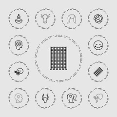 Collection of 13 head outline icons